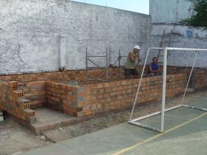Construção do palco