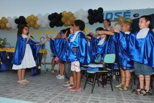 Juramento dos alunos da Educação Infantil