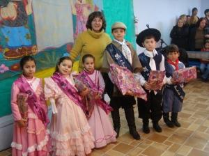 Os vencedores do concurso da primeira prenda e gaúchinho 2010